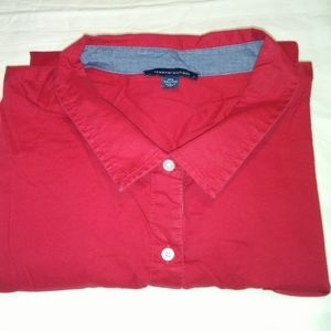 WT16 Tommy Hilfiger Women's XXL Red, Button Shirt